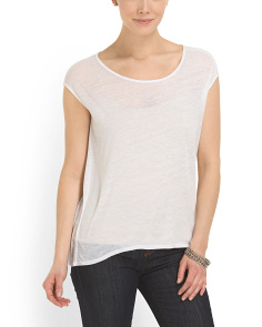 image of Neck Cut Out Threadbare Tee