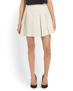 image of Box Pleat Short Skirt