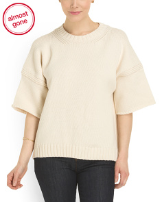 image of Boxy Crew Neck Knit Top