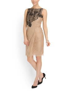 image of Made In Italy Silk Lace Dress