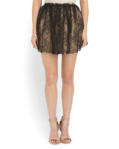 image of Made In Italy Lace Mini Skirt