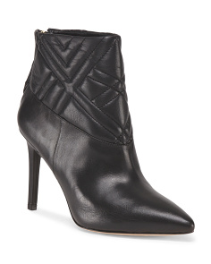 Leather Kelina Quilted Bootie