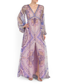 image of Made In Italy Silk Long Dress