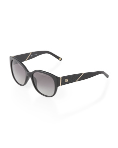 image of Made In Italy Oval Sunglasses With Gold Trim