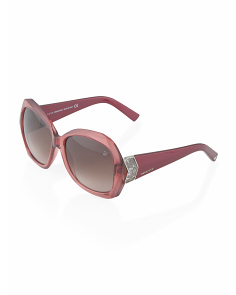 image of Made In Italy Round Diamond Cut Sunglasses