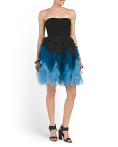 image of Silk Lotte Ombre Skirt Dress