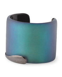 image of Liquid Metal Edge Black Beetle Lucite Bracelet
