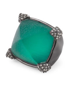 image of Mod Black Forest Lucite Ring
