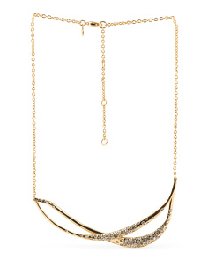 image of Crystal Double Bar Necklace