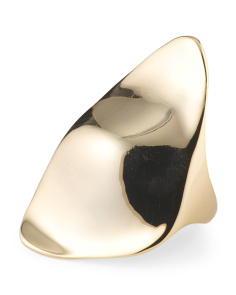 image of Gold Tone Flat Triangle Ring