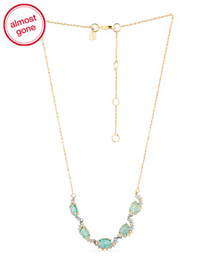 image of Crystal Gold Tone Necklace