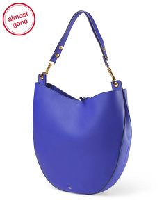 image of Made In Italy Leather Hobo