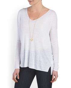 image of Linen Blend Larlissa Sweater
