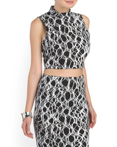 image of Aisling Sleeveless Cropped Top