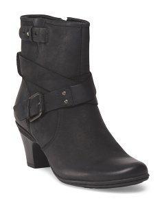 image of Leather Buckle Bootie