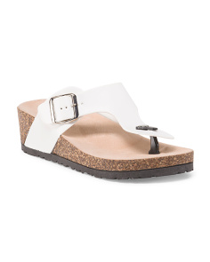 image of Leather Thong Footbed Sandal