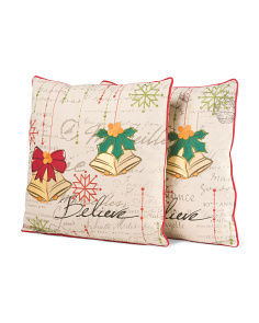 Set Of 2 18x18 Bell Pillows