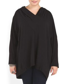 Plus Draped Neck Top