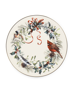 Winter Greet Dinner Plate