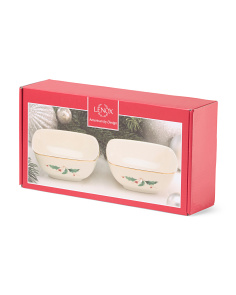 Set Of 2 Holiday Dipping Bowls