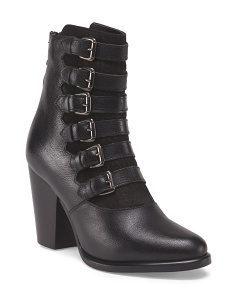 Made In Italy Leather Bootie