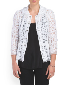 Made In Italy Lace Bridal Jacket