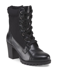 Claudia Lace Up Lug Bootie