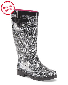 Daisy Lace Printed Rain Boot