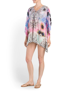 Lace Up Cover-Up Kaftan
