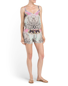 Printed Romper Cover-Up