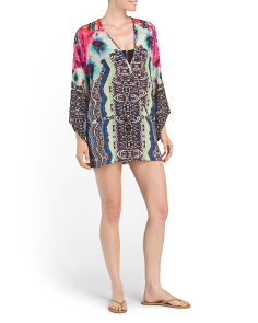 Tie Waist Cover-Up Tunic Dress