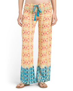 Printed Cover-Up Pant
