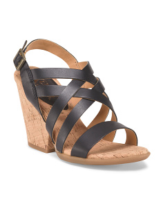 Leather Nedra Strappy Wedge