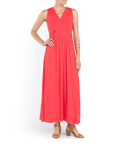V Neck Braided Maxi Dress
