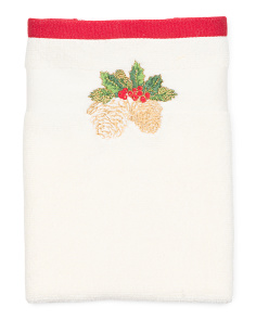Pine Cone Holiday Tip Towel