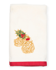 Pine Cone Holiday Tip Towel Set