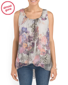 Made In Italy Silk Fly Away Top