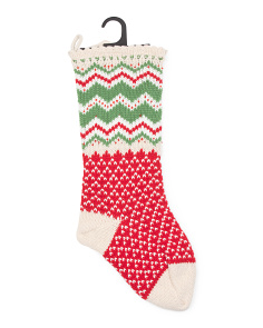 Zig Zag Holly Stocking