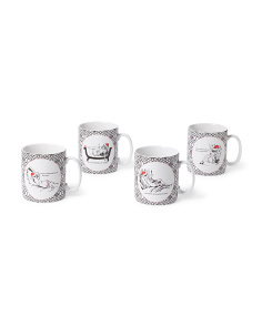 4pc Santa's Babe Mugs