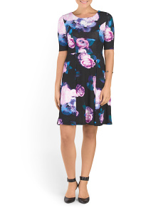 Australian Designer Printed Elbow Sleeve Dress