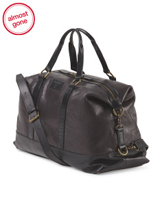 Leather Milano Duffel