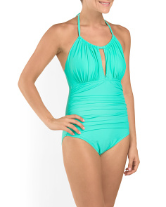 Solid High Neck One-Piece