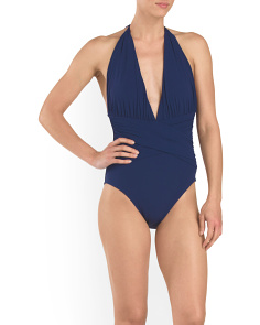 Solid Plunge One-Piece