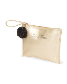 Mr & Mrs Wristlet Pouch