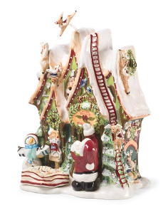 Santa's Reindeer Flight School Candle House