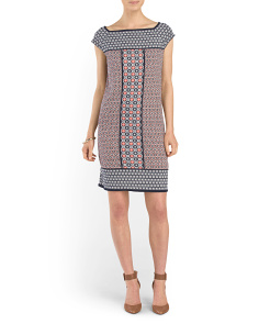 Printed Grid Dress