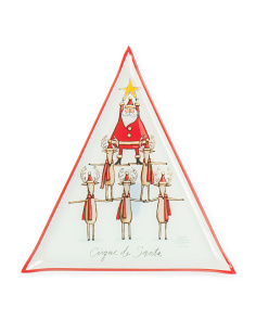 Christmas Follies Triangular Platter