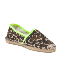 Made In Spain Camo Flat Espadrille