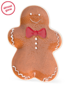 Set Of 4 Gingerbread Man Plates