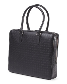 Made In Italy Logo Briefcase